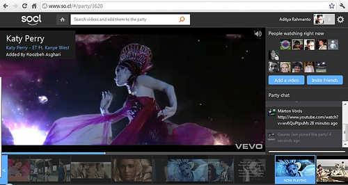 Fitur Video Parties, yg memungkinkan pengguna mencari, menonton &mengumpulkan video dengan sesama