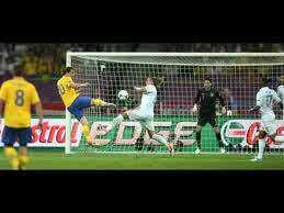 Gol dari Zlatan Ibrahimovic saat laga penyisihan grup D Swedia Vs Prancis