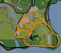 Big Foot Print In Map GTA San Andreas